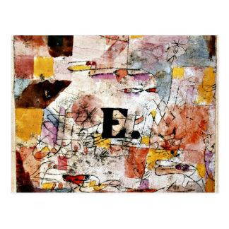 パウル・クレーの芸術: 水鳥-アヒルの絵画 ポストカード