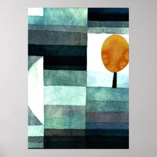 パウル・クレーの芸術: 秋のメッセンジャー ポスター