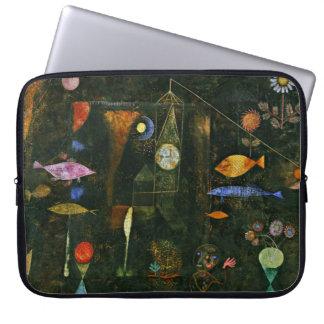 パウル・クレーの芸術: 魚の魔法、Kleeの有名な絵画 ラップトップスリーブ