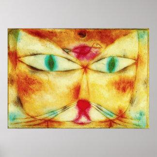 パウル・クレー猫および鳥ポスター ポスター