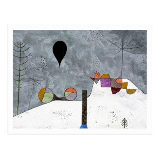 パウル・クレー著冬の写真 ポストカード