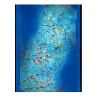パウル・クレー著魚のイメージ ポストカード