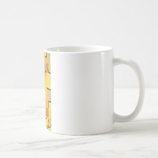 パウル・クレー著黄色のキャラクター コーヒーマグカップ