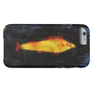 パウル・クレー金魚のヴィンテージの水彩画の芸術 ケース