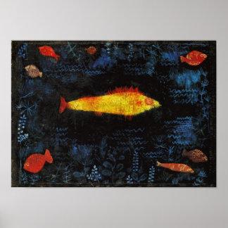 パウル・クレー金魚のヴィンテージの水彩画の芸術 ポスター