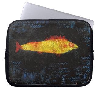 パウル・クレー金魚のヴィンテージの水彩画の芸術 ラップトップスリーブ