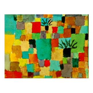 パウル・クレー-南にチュニジアに庭の絵を描くこと ポストカード