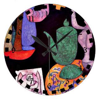 パウル・クレー: 無題(静物画) ラージ壁時計