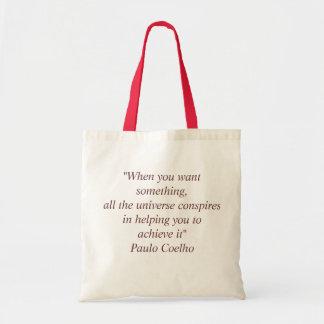 パウロ・コエーリョの引用文のバッグ トートバッグ