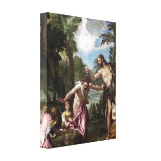 パオロ・ヴェロネーゼ著キリストの洗礼 キャンバスプリント