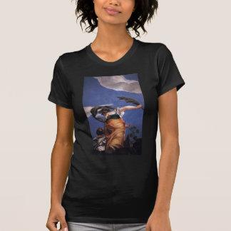 パオロ・ヴェロネーゼ著悪上の美徳の勝利 Tシャツ