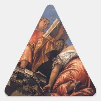 パオロ・ヴェロネーゼ著音楽、天文学および詐欺 三角形シール