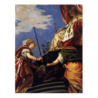 パオロ・ヴェロネーゼ著JustitiaとPAX間のヴェネト共和国 ポストカード
