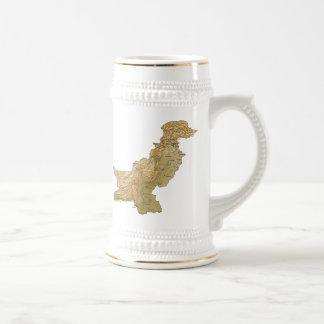 パキスタンの旗の~の地図のマグ ビールジョッキ