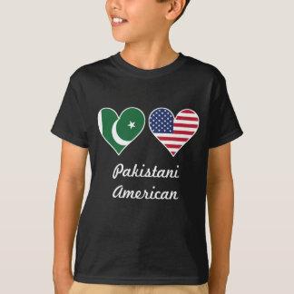 パキスタンの米国旗のハート Tシャツ