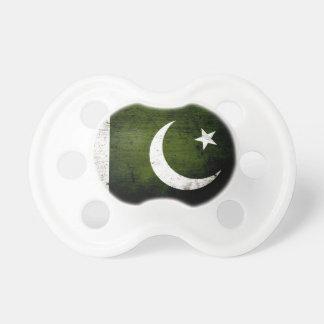 パキスタンの黒くグランジな旗 おしゃぶり