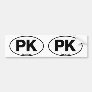 パキスタンPK楕円形IDの識別コード[符号]のイニシャル バンパーステッカー