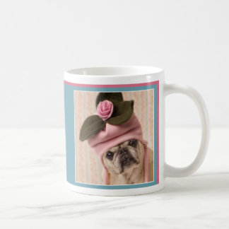 パグおよびキスのパグのマグのGrettaの愛らしいバラ コーヒーマグカップ