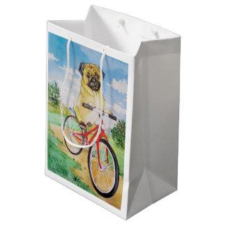 パグのギフトバッグ ミディアムペーパーバッグ