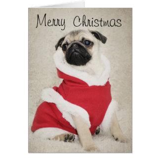 パグのクリスマスカード カード