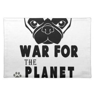パグのクールな犬の惑星のための戦争 ランチョンマット