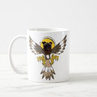 パグのタカのコーヒー・マグ コーヒーマグカップ