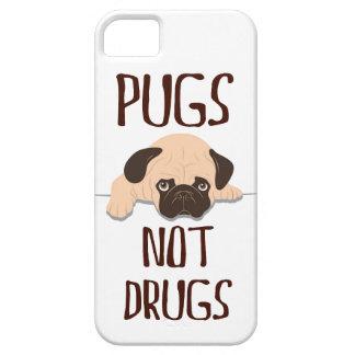 パグのパグのない薬剤かわいい犬のデザイン iPhone SE/5/5s ケース