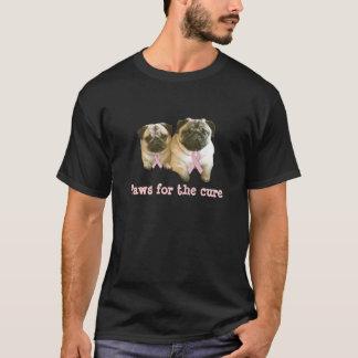 パグの乳癌のユニセックスなワイシャツ Tシャツ