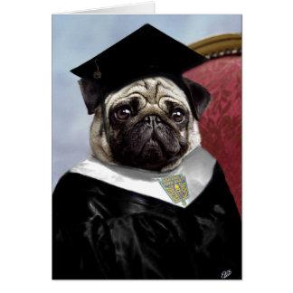 パグの卒業カード グリーティングカード