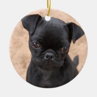 パグの子犬のオーナメント セラミックオーナメント