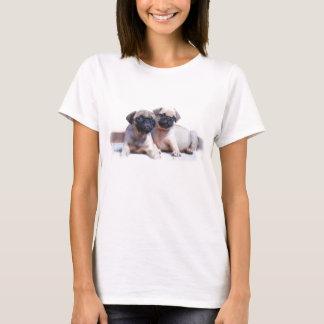 パグの子犬のタンクトップ Tシャツ