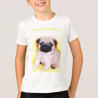 パグの子犬はワイシャツをからかいます Tシャツ