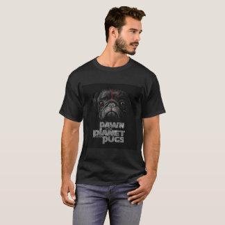 パグの惑星の夜明け Tシャツ