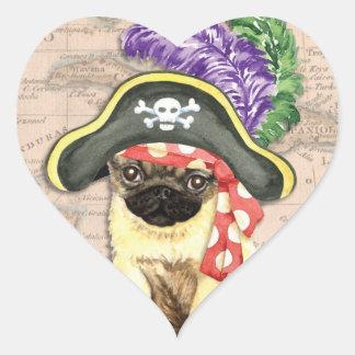 パグの海賊 ハートシール