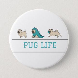 パグの生命ボタン 7.6CM 丸型バッジ