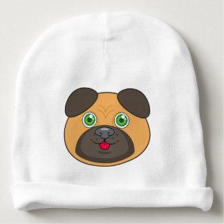 パグの顔の赤ん坊の綿の帽子 ベビービーニー