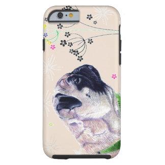 パグ及び花のiPhone6ケース iPhone 6 タフケース
