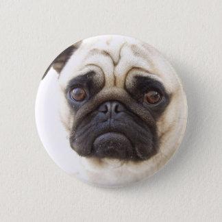 パグ犬の円形ボタン 5.7CM 丸型バッジ
