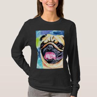 パグ犬の芸術のTシャツ Tシャツ