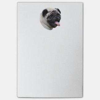 パグ犬ペット写真のポートレート ポストイット