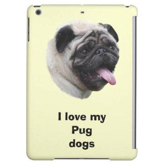 パグ犬ペット写真のポートレート iPad AIRケース