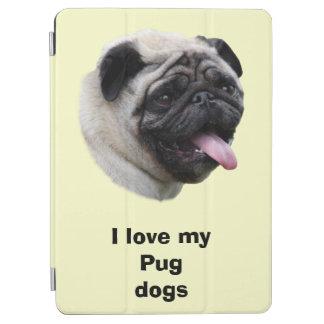 パグ犬ペット写真のポートレート iPad AIR カバー