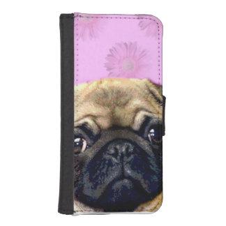 パグ犬 iPhoneSE/5/5sウォレットケース