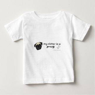 パグ-より多くの犬の品種 ベビーTシャツ