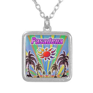 パサデナの夏愛 シルバープレートネックレス