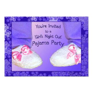 パジャマのパーティの招待状 カード