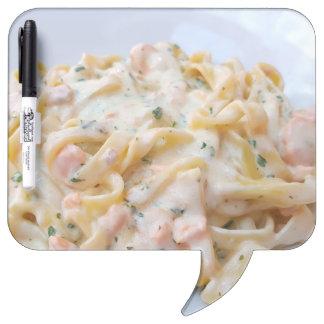 パスタのカスタムな食糧写真 ホワイトボード