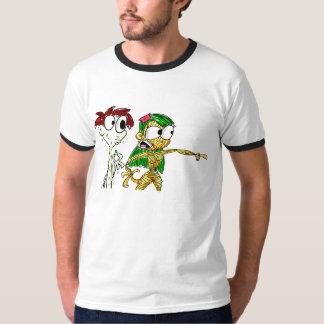 パスタの女の子およびメーヨーの男の子 Tシャツ