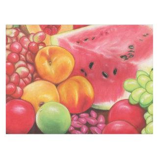 パステルと描かれるフルーツのテーブルクロスの~のアートワーク テーブルクロス