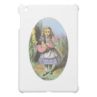 パステルのアリス及びブタのベビー iPad MINI カバー